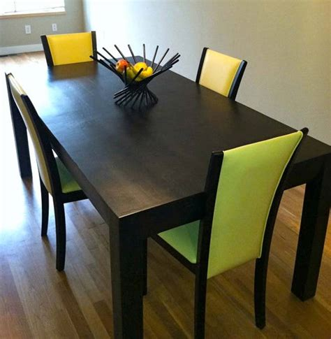 Black Dining Table Oak Parsons Design By Wicked Boxcar Black Parsons Dining Table