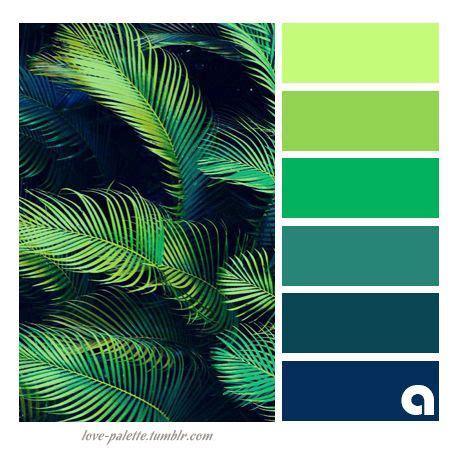 green color schemes palettes of of color hues of feelings colors