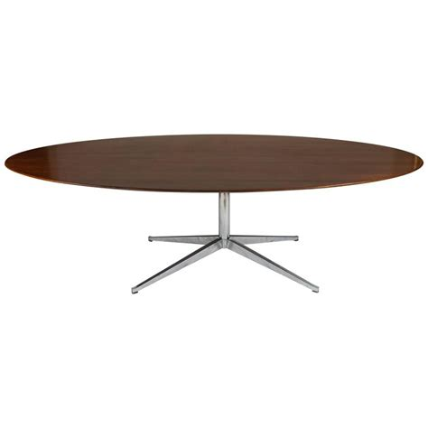 florence knoll oval rosewood dining table desk