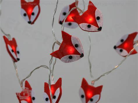 Felt Fox Led Stringlights Battery Powered Low