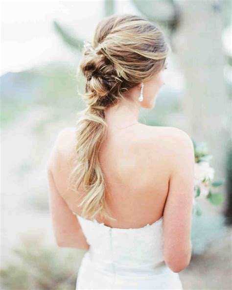Wedding Hairstyles Ponytail by 12 Brides Who Wore Wedding Worthy Ponytails Martha