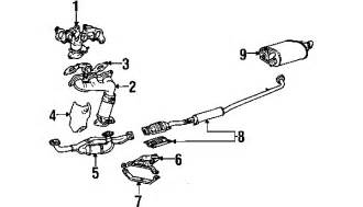Lexus Rx300 Exhaust System Diagram 2000 Lexus Es300 Parts Mileoneparts