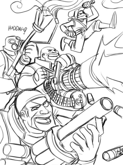 team fortress 2 coloring pages coloring pages