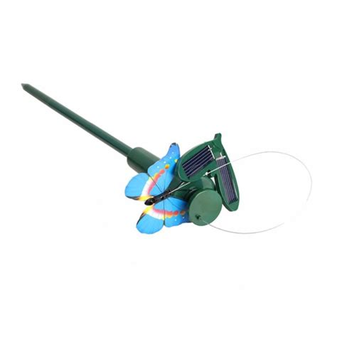 Solar Flying Butterfly Simulation B2 solar powered electric rotating butterfly hummingbird decorative fly simulation butterfly pet