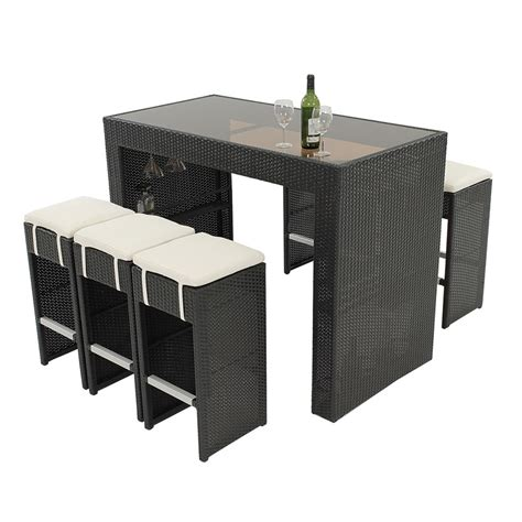 neilina black 7 piece patio set el dorado furniture