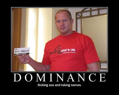 Fedor Emelianenko Meme - dominance mma photo