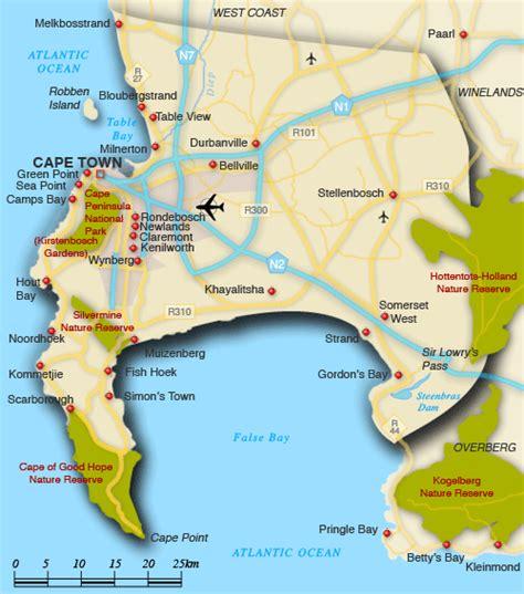 africa map cape of map of cape peninsula cape peninsula map south africa