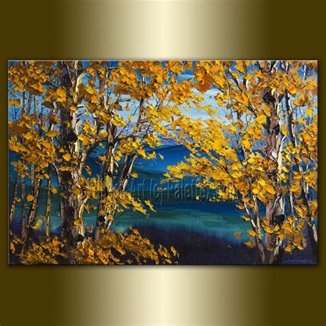 Original Painting On Canvasautumn Landscapemodern 220 Best Images About Nature Paintings On