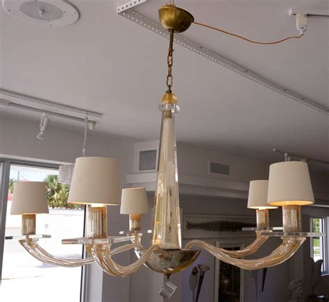 Five Light Murano Glass Chandelier By Angelo Donghia Donghia Chandelier