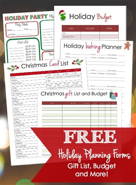 free printable christmas planner forms free holiday planning printables for your lists and more