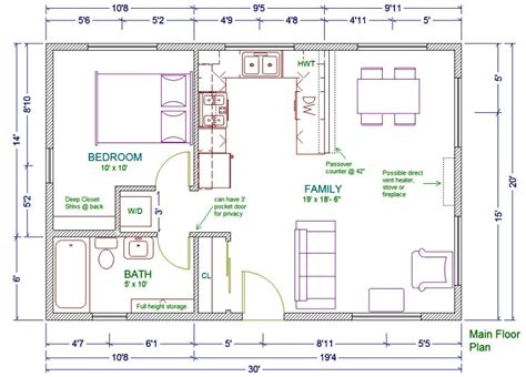 home design 20 x 30 20x30 cabin floor plans houses plans designs