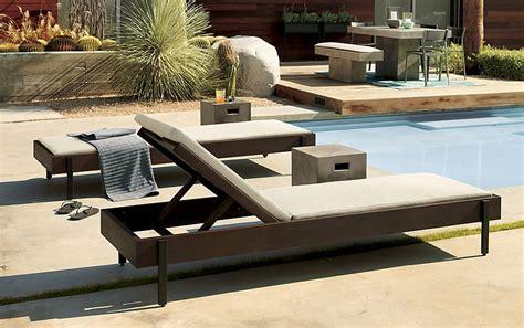 cb2 chaise lounge 5 summer patios that showcase chic backyard design2014