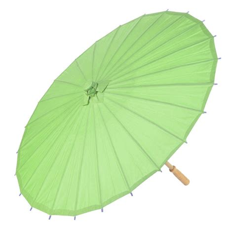 Paper Umbrella - 32 quot grass green paper parasol umbrellas on sale now