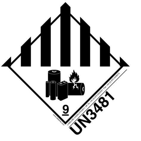 class  lithium battery label  dangerous goods labels