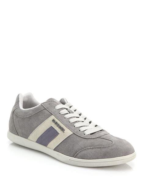 Light Grey Sneakers diesel happy hour suede sneakers in gray for light