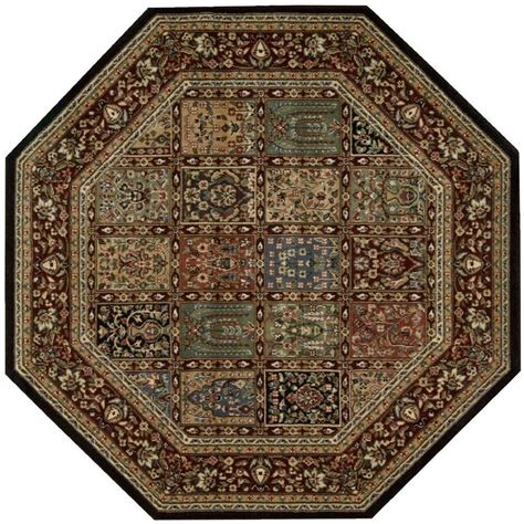 octagon rugs 7 nourison empire multicolor 7 ft 9 in x 7 ft 9 in octagon area rug 695475 the home depot
