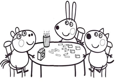 peppa pig coloring pages peppa coloring book games free coloring pages of peppa pig picnic 7661