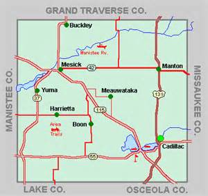 What County Is Cadillac Michigan In Wexford County 171 Every County