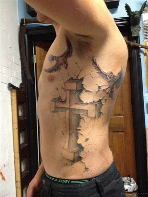 cross tattoos on rib cage 86 newest cross tattoos for rib