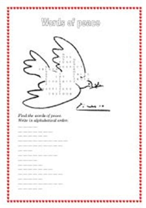 Peace Day Worksheets by Teaching Worksheets Peace And Solidarity