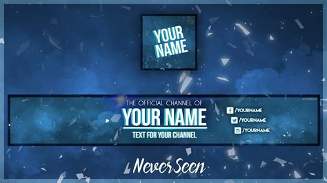 Free Youtube Banner Template Avatar Photoshop Psd Download 2017 Youtube Banner Template 2017