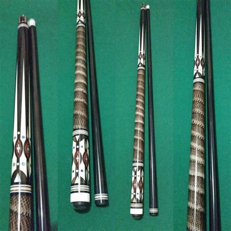 Handcrafted Pool Cues - cues with snake skin wrap philippines billiards cues