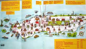 Map Of New York City Attractions by Manhattan Citysites Tour Map Manhattan New York Mappery