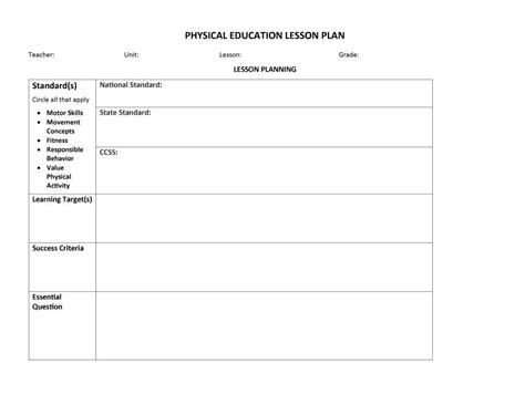 template of a lesson plan 44 free lesson plan templates common preschool weekly