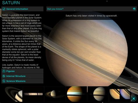information on saturn for best free app of the week solar walk saturn