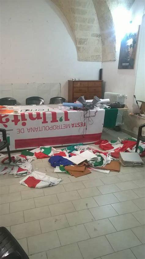 ufficio vaccinazioni lecce altamura devastata la sede partito democratico