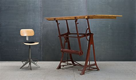 Kuhlmann Drafting Table Germany C 1920s Vintage Industrial Kuhlmann Cast