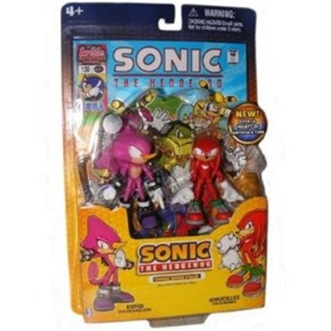 sonic the hedgehog 3.5 inch action figure with comic book