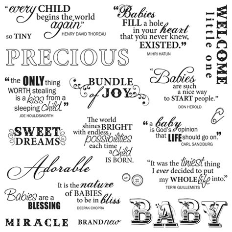 printable baby quotes babies are a blessing miracle