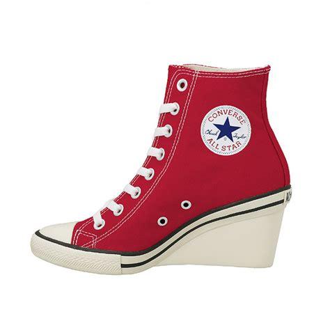 converse high heels sneakers converse all wedge hi heels sneakers lace up