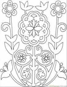 Coloring Pages Flowers From The Field Other &gt Pattern  Free sketch template