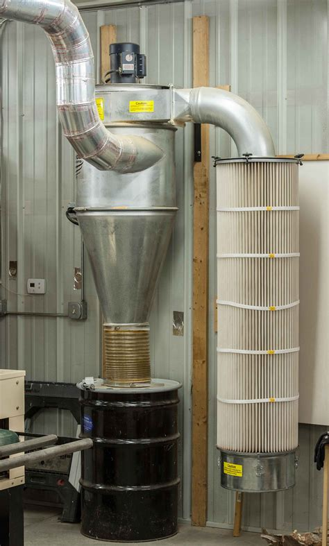oneida air hp dust collector ducting system woodwebs