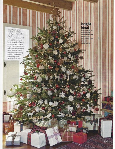How To Decorate A Country Tree - karin lidbeck 2011 country living magazine feature