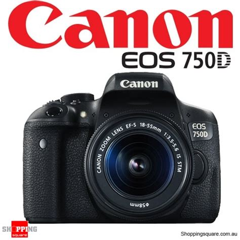 Canon Eos 750d Kit With Ef S 18 55mm Is Stm Built In Wifi canon eos kit 750d ef s 18 55mm is stm digital black shopping shopping square
