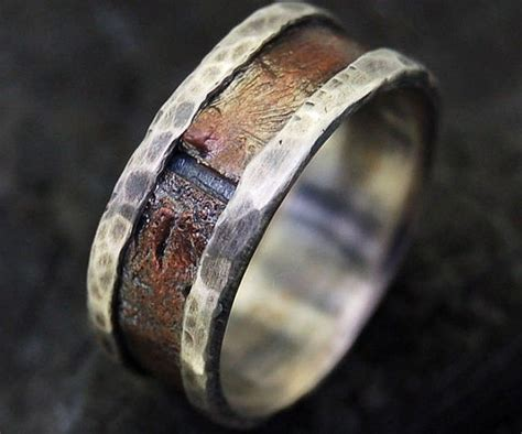 Rustic Men?s Wedding Ring   Bold fashion and Ring
