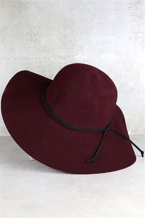 Adorable Floppy Hats by Burgundy Hat Wool Hat Floppy Hat Sun Hat 30 00