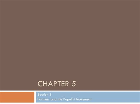Chapter 13 Section 5 The Election chapter 5 section 3