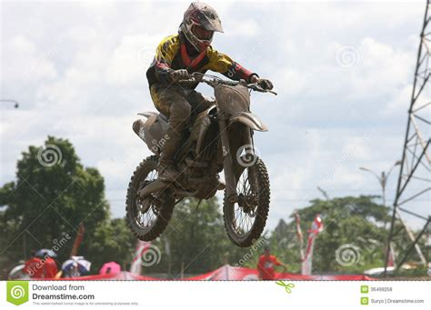Cacing Sukoharjo motorcross editorial stock photo image 36499258