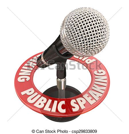 keynote clipart stock illustration of speaking microphone keynote