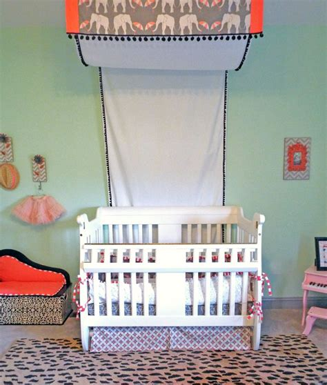 mint green and coral bedding custom crib canopy and bedding animal print mint coral