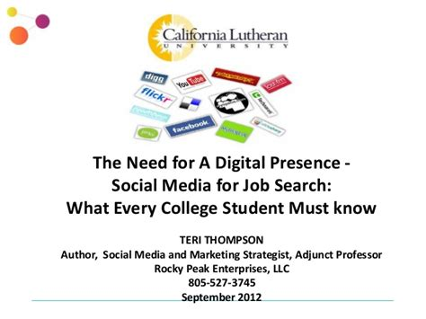 Search Social Media For Social Media For Search What Every College Student Must