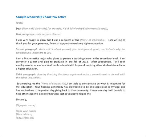 how to write a cover letter how to write a thank you note for a scholarship 1310