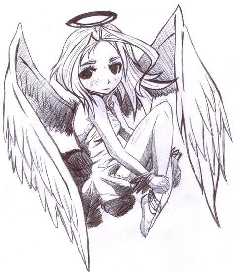 imagenes de angeles y demonios para dibujar a lapiz angeles anime para dibujar a lapiz imagui