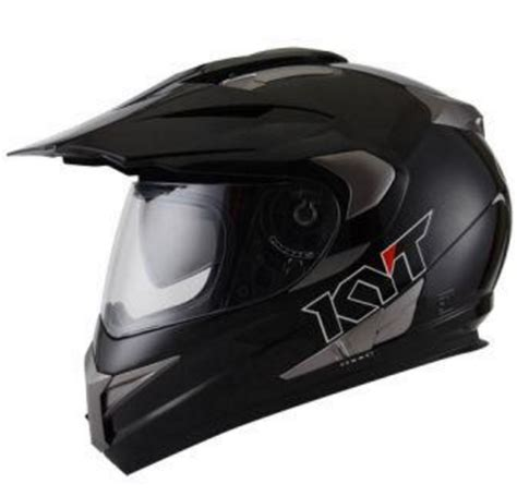 harga helm kyt supermoto enduro solid warna hitam daftar