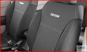 Seat Covers For Mitsubishi Triton Mn Triton Seat Covers Neoprene Rear Only Black Genuine