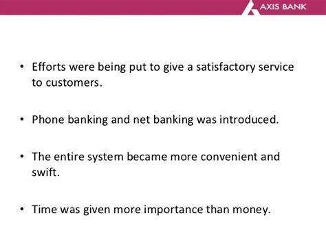 services of axis bank axis bank